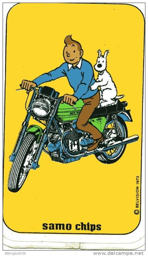 Tintin - On a Moto Guzzi!