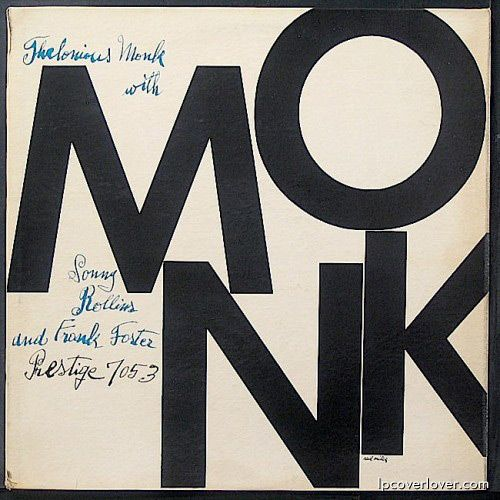 #AndyWarhol designed album covers for many musicians during his career// Album cover art for Thelonious Monk on Blue Note (1954)