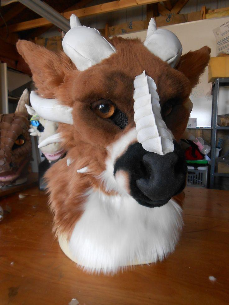 realistic deer  dragon head by  3 defense