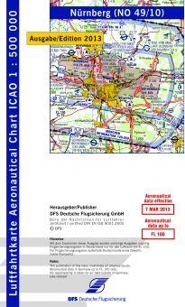 1350 40/10 #ICAO Karte #Nürnberg 2014 ohne Folie #Luftfahrtkarte