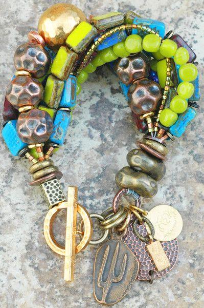 Bracelet   Charm   Blue   Green   Purple   Copper   Gold   Bronze   XO Gallery 225