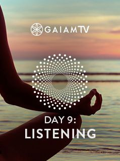 Meditate anytime, anywhere with any sound that blesses your presence. These short guides accompany you through the day and remind you to listen with the genuine curiosity of a small child. #MeditationChallenge #GaiamTV #MyYogaOnline
