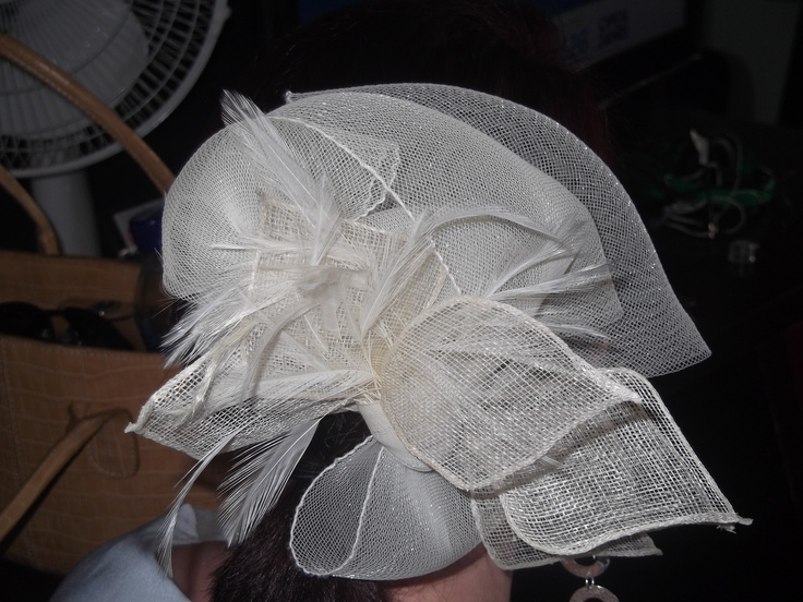 I made this head piece in class during the year and wore it to my friends wedding.