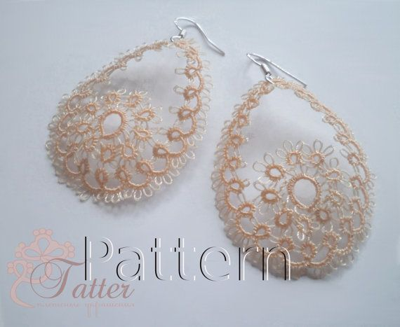"PDF Tatting Pattern ""Easter Earrings"""