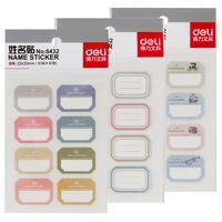 6 páginas/lot deli etiquetas autoadhesivas nombre pegatinas post it páginas de índice de suministros de oficina papelería accesorio