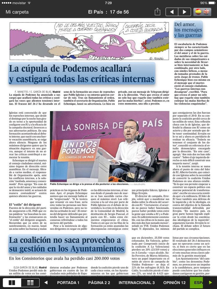 ABC DE LA MAR MENOR: Recortes de Prensa yTwitter después de la Elecciones 26J