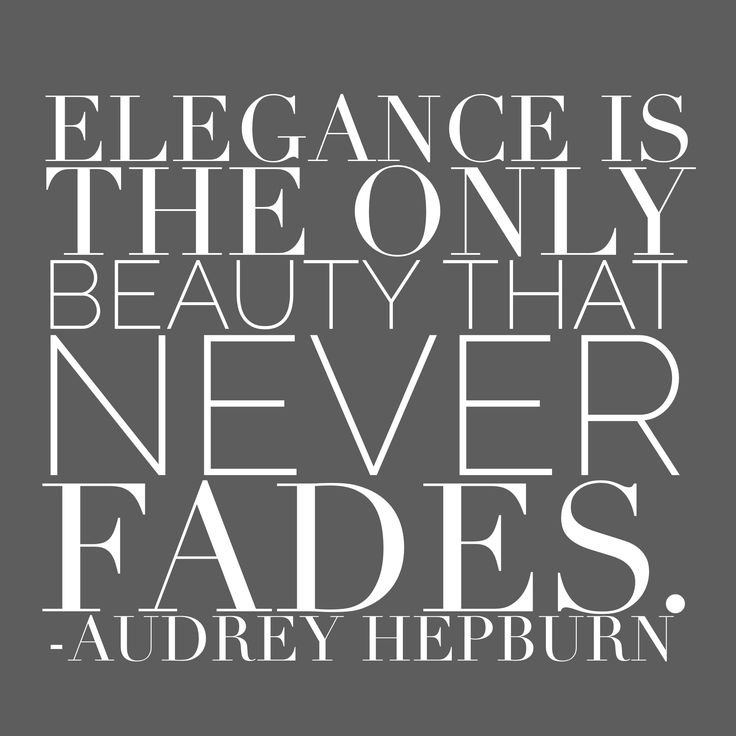 What's your definition of elegance?