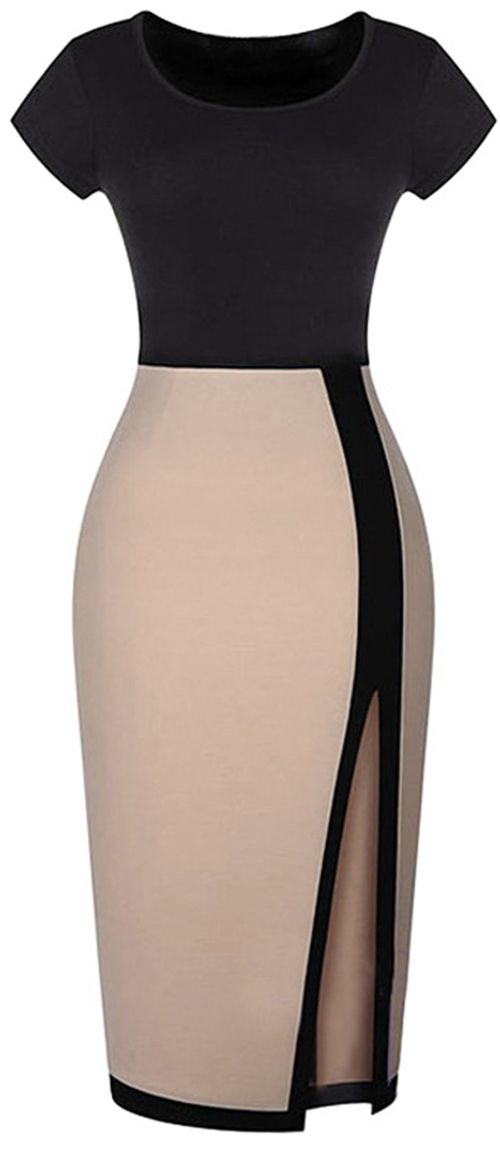New Arrival, up to 10% Off for pre-order. Short Shipping Time! Easy Return + Refund! Friend in need of fresh fashion advice? Your expert opinion shines when you're clad in this Cupshe Crushing Shadows Color-blocked Dress. Contrast color meets with front split ,which will give you elegance and fashion sense all the time. Check more now!