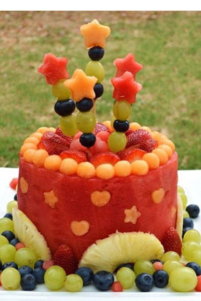 creatief met fruit - taart