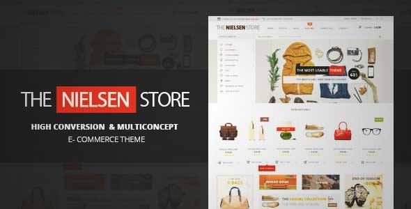 Download and review of Nielsen - E-commerce WordPress Theme, one of the best Themeforest eCommerces themes