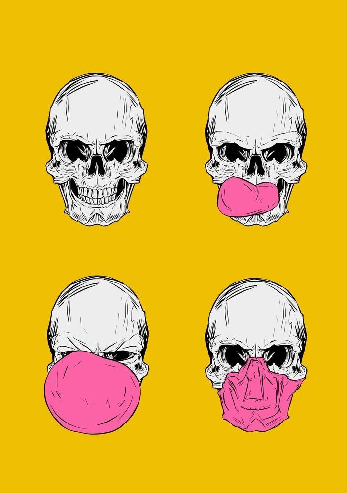 ... SKELETONS sur Pinterest  Behance, Squelettes dhalloween et Crânes