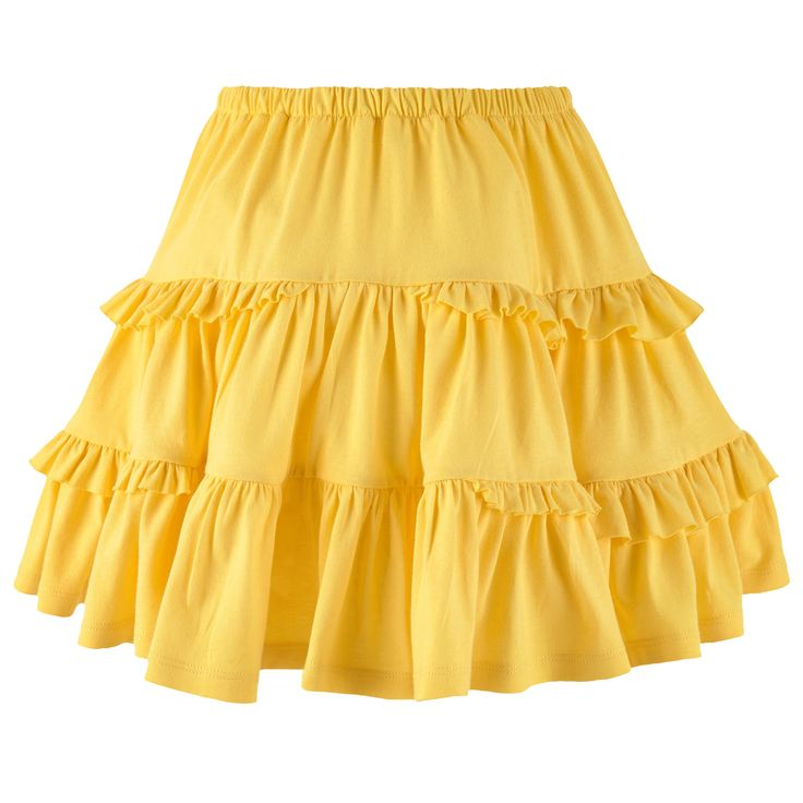 LILI GAUFRETTE SPRING SUMMER 2016  Cotton jersey  Flared skirt Layered flounces Full skirt effect Elastic waistband - 50,00 €