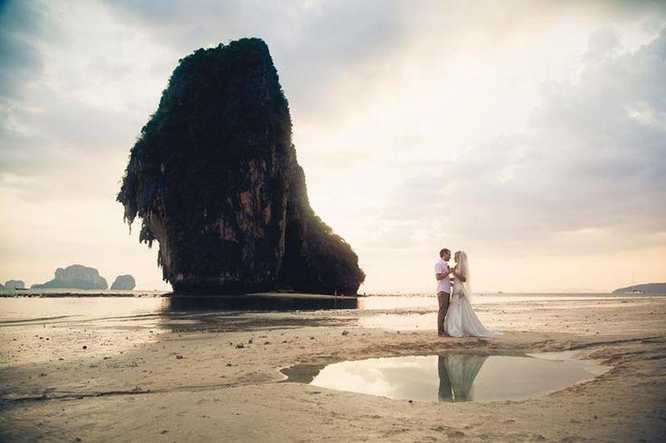 A destination wedding like no other! What a wonderful picture. At Rayavadee Resort in Krabi #Thailand #travel #wedding #love www.rayavadee.com