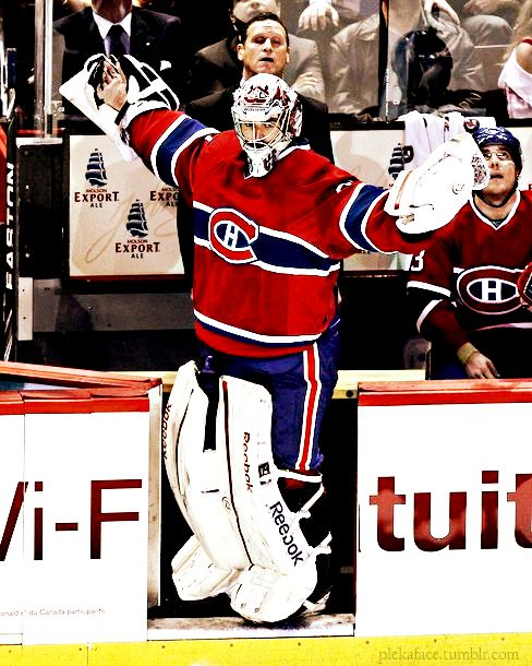 SO PROUD. Carey Price, Montreal Canadiens (Source: plekaface)