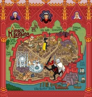 King's Landing Map, (Game of Thrones) by J.E. Fullerton