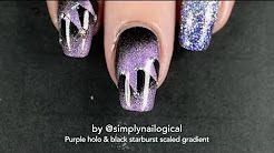 紫 ネイル - YouTube