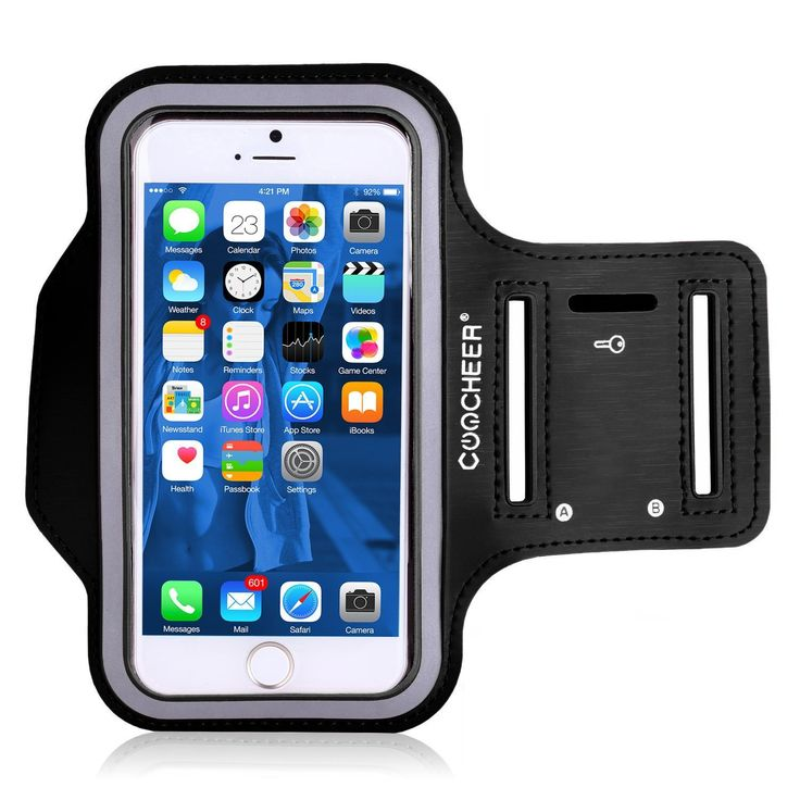 "COOCHEER Water Resistant Sports Armband with Key Holder for iPhone 6 Plus, 6S Plus (5.5-Inch), Galaxy S6/S5, Note 4 Bundle with Screen Protector. •BUNDLED IPHONE 6 PLUS / 6S PLUS (5.5"") SCREEN PROTECTOR WITH EVERY ORDER! 100% MANUFACTURER MONEY BACK GUARANTEE: If For Whatever Reason You Don't Absolutely Love Your Tribe Armband, Just Return It And We Will Refund Every Penny Or Replace It, No Questions Asked. •QUALITY MATERIALS: Our Armband Is Made Of The Highest Quality Soft Neoprene That…"
