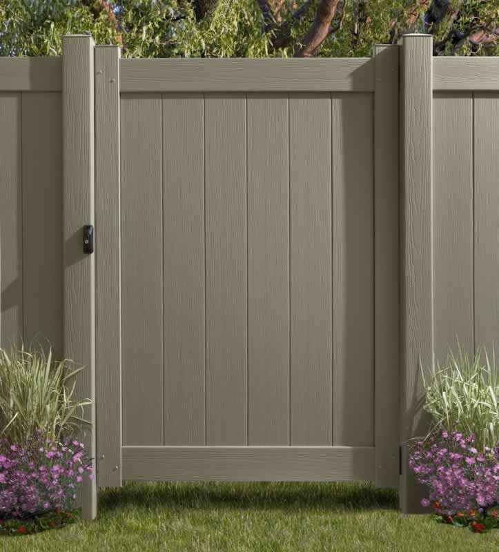 159 With Lockable Latch Vinyl Gate For Backyard