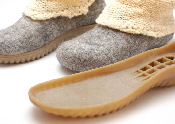 Soles for my felted clogs and booties  Winter boots by WoolenClogs, $24.00