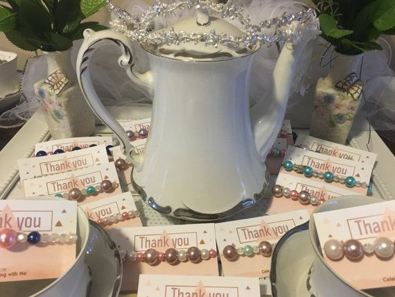 lot of 10 tea party bridal shower favors pearl by