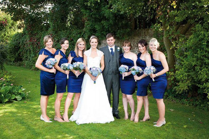 #blue #bridesmaid #dress