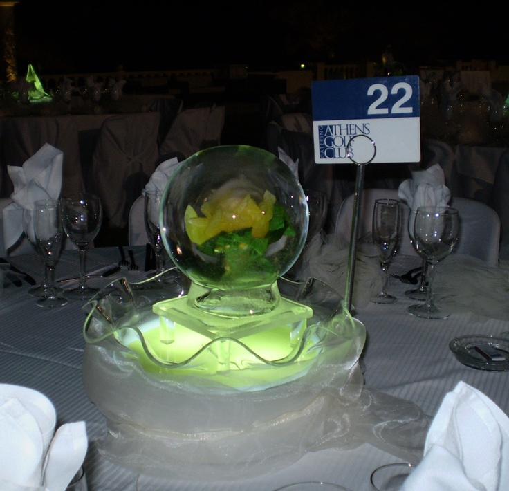 An excellent decoration for an event that was organized by Athens Golf Club.