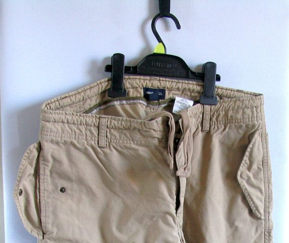 Vintage 90s mens beige cotton men denim pants by artwardrobe, $18.00
