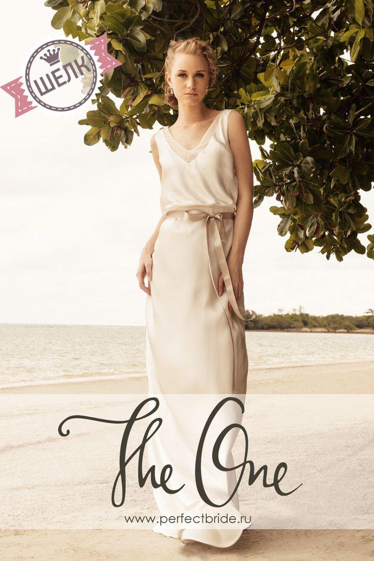 Легкое шелковое летнее свадебное платье для пляжа Roxanne