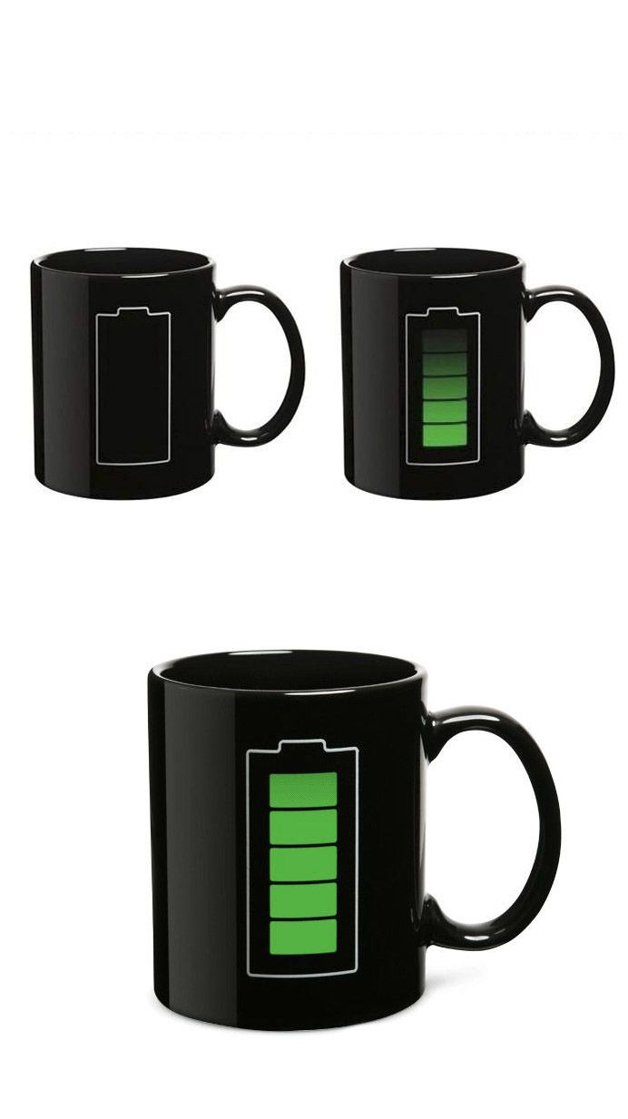 Battery Mug - Battery level changes when you pour in hot liquid