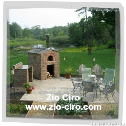 A beatiful installation of a residentia Zio Ciro oven in the countryside