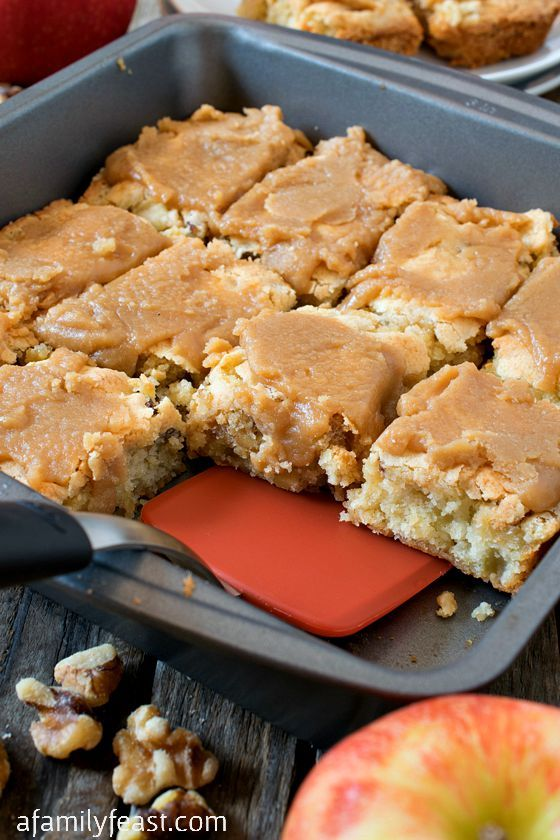 Apple Chunkies - A vintage recipe for sweet little bars stuffed with chunks of apples and walnuts.