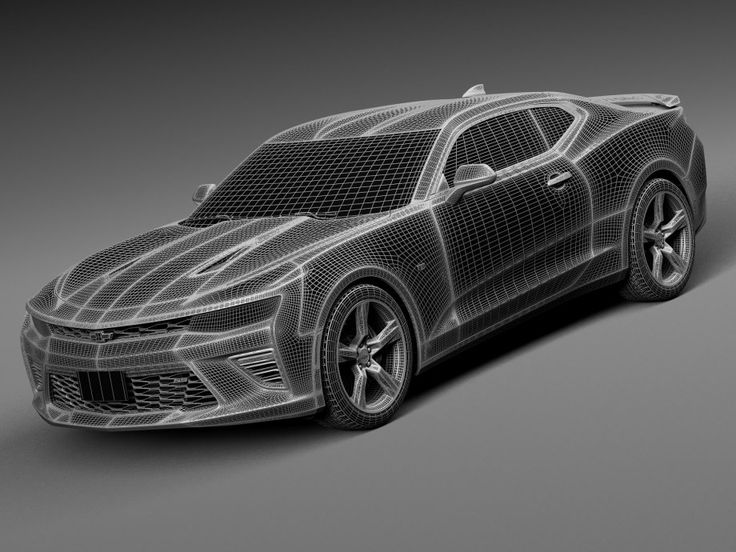 Chevrolet Camaro SS 2016 - 3d model - CGStudio