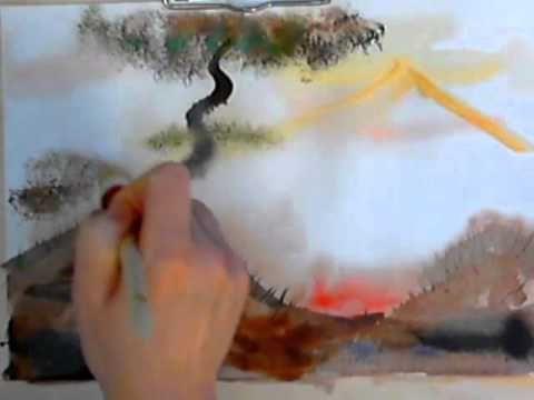 правополушарное рисование, техника акварель