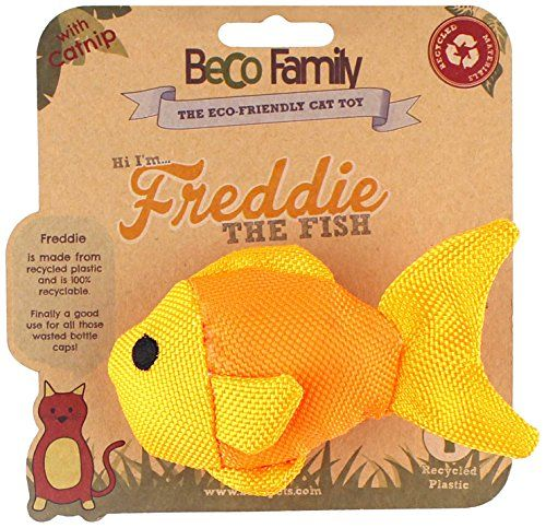 Beco Things Freddie the Fish Plush Toys for Cats BecoThings http://www.amazon.co.uk/dp/B00TQQJG2W/ref=cm_sw_r_pi_dp_PMnYvb1J5VH1K