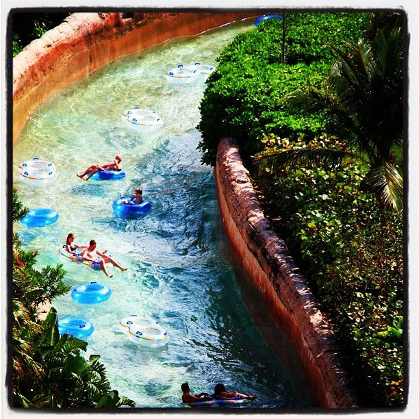 Ridin' the river rapids! Atlantis Bahamas. Because I haven't lazy rivered since