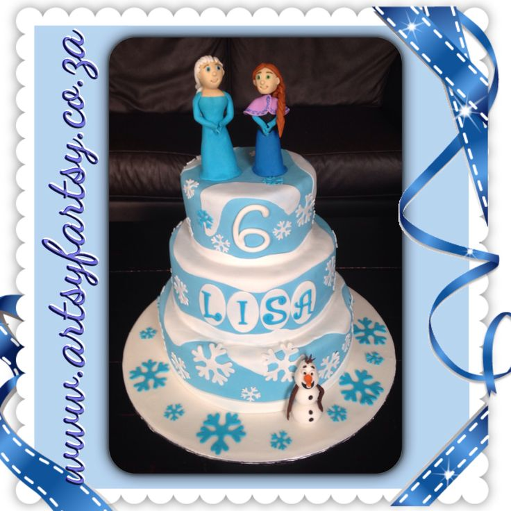 Anna, Elsa en Olaf from Frozen Three Tier Cake