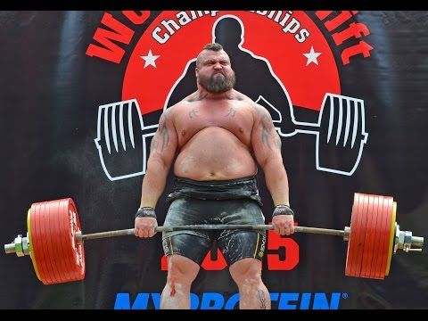 Eddie Hall does new Deadlift World Record 463KG - 1020lbs - YouTube