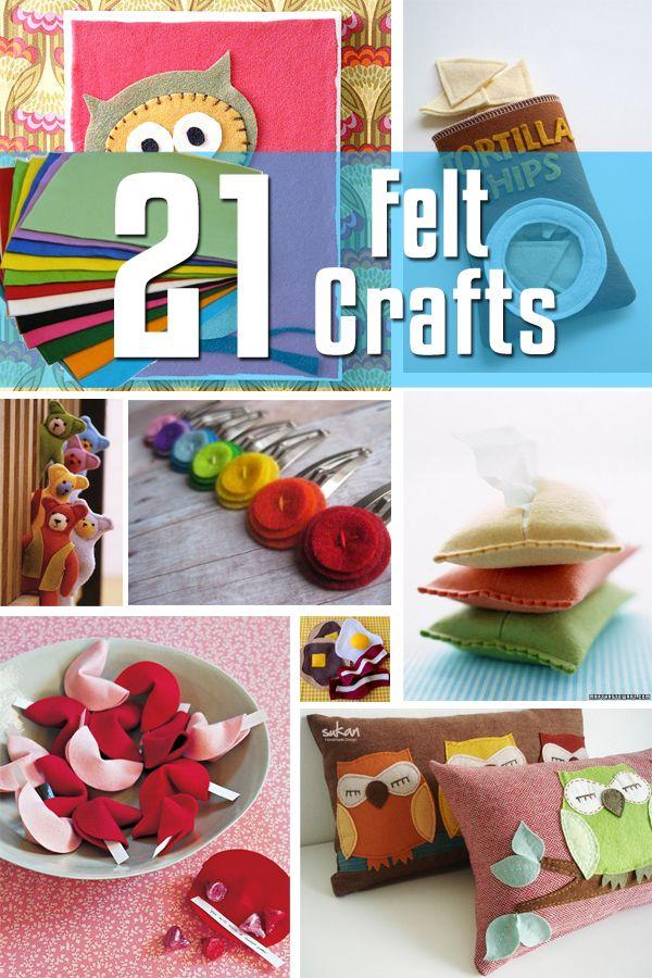 http://www.pinterest.com/americancraftfl/share-your-craft/  21 Felt Crafts | Craftspo