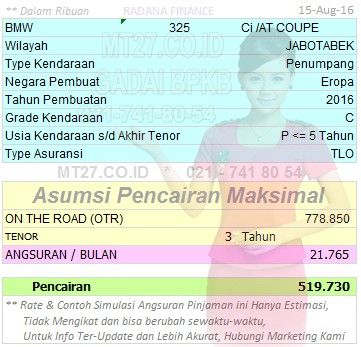 46# Pinjaman-519-3Th-BMW-325-Ci AT COUPE-Refinancing BPKB Mobil - Solusi Kredit