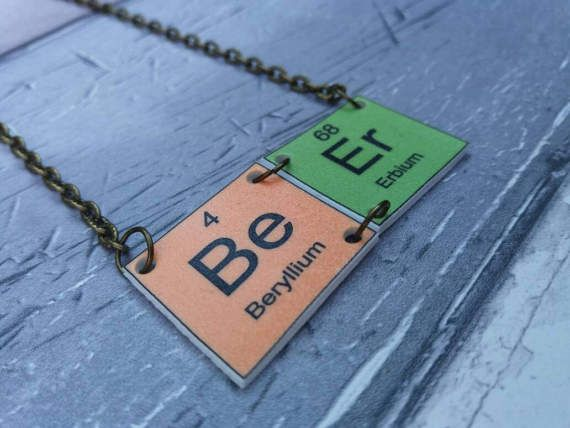8 best statement necklaces images on pinterest statement necklaces periodic table necklace beer pendant with bronze effect urtaz