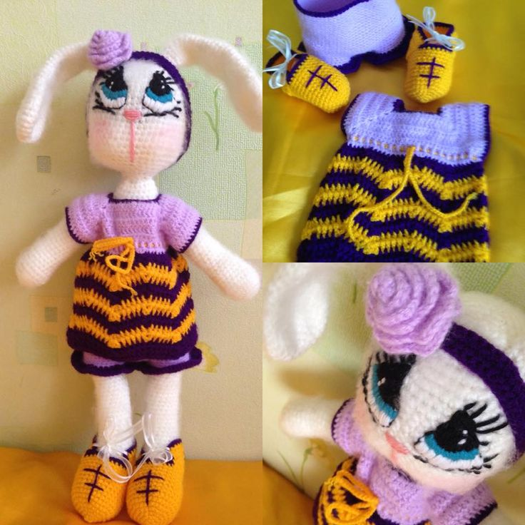 Bunnelia is done. She is 55 cmes tall, moreover, she can standing and sitting too.  Bunnélia elkészült. 55 cm magas, tud ülni és állni is.  Pattern is coming soon on my website.  www.noemicrochet.com You can follow me on Instagram. @noemi.v67