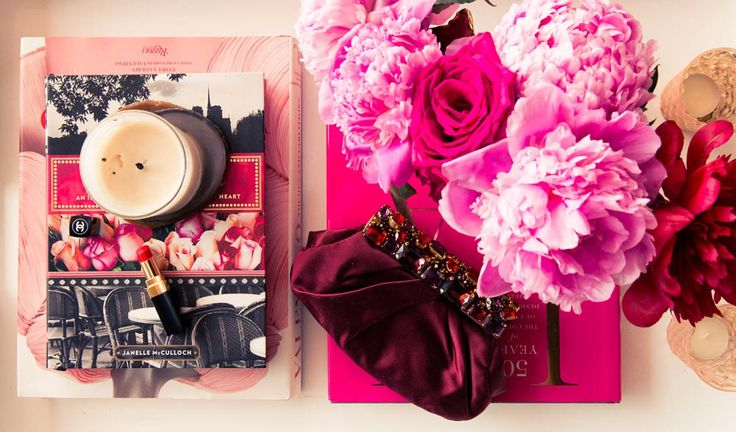 Pops of bright colors and peonies