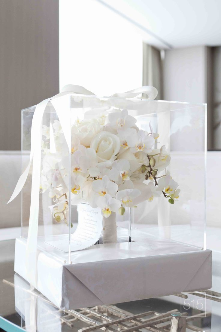 Bold White Bouquet Orchids Full Cascading Lush