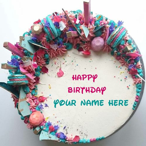 Beautiful Birthday Wishes Cake Topper With Your Name