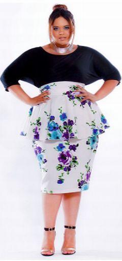 Модные летние юбки для полных девушек и женщин [фото]
