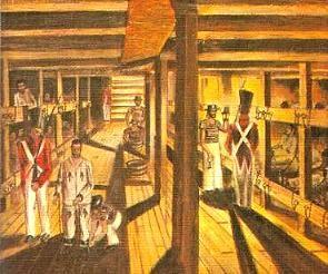 Interior of a Convict Ship
