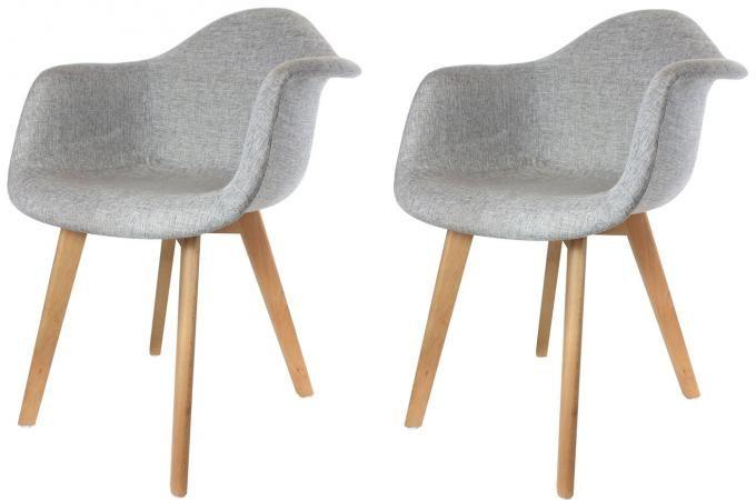 accoudoir tissu grises fjord chaise