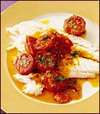 Salt-Baked Sea Bass with Warm Tomato Vinaigrette - Fast Recipes for ...