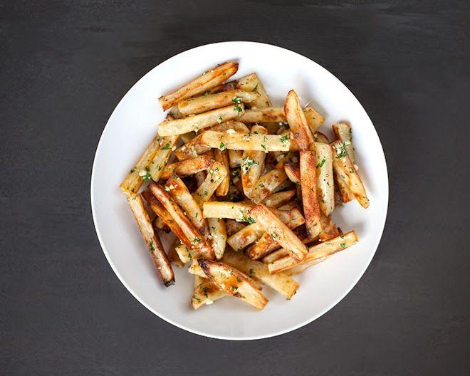 Чесночный картофель фри