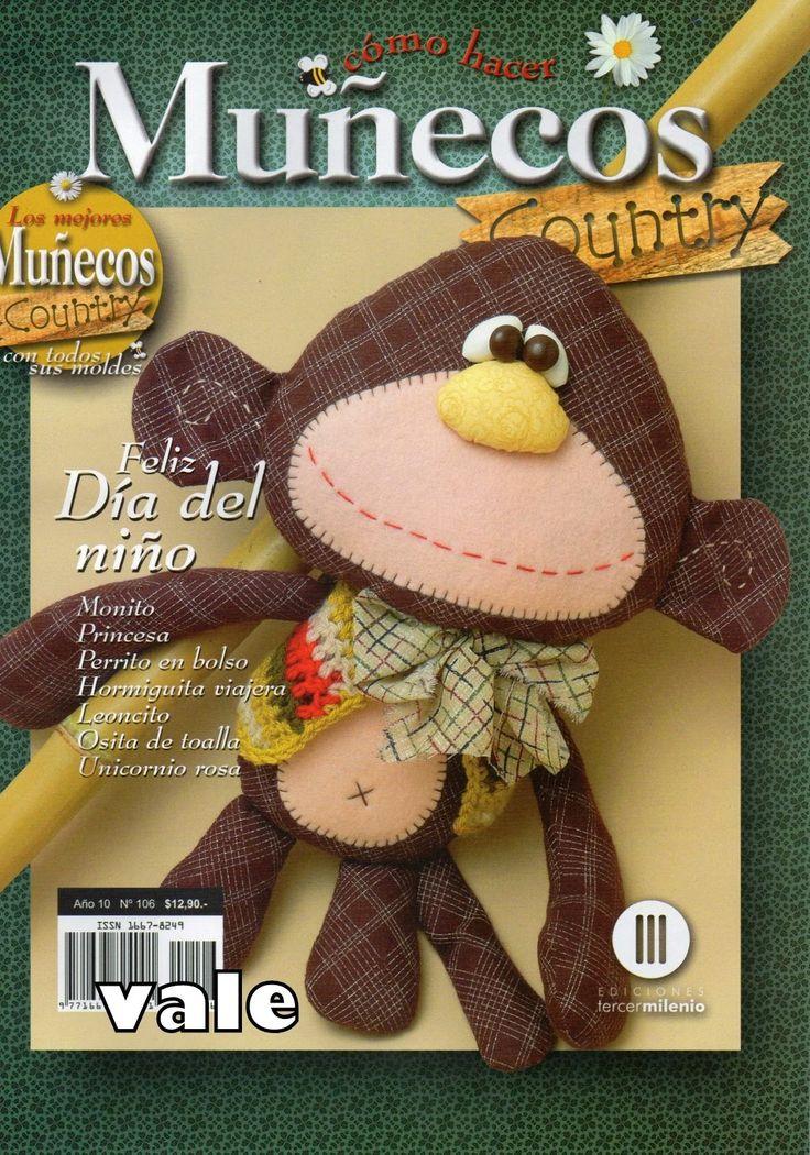 Revistas de manualidades Gratis: Muñecos country paso a paso